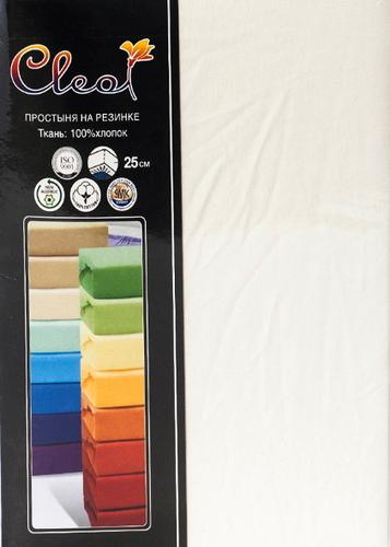 Простыня на резинке Cleo Eсru 90х200 см