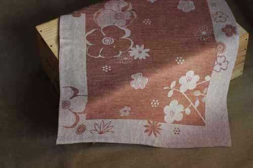 Коричневое кухонное полотенце Ефросинья 50х70 см