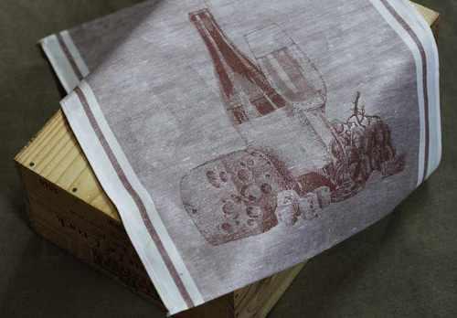 Кухонное полотенце с винной тематикой Шардоне 50х50 см