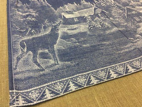 Новогоднее полотенце с жаккардовым рисунком 50х70 см