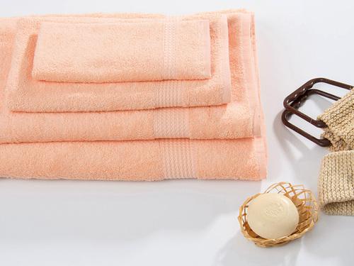 Махровое полотенце TOUCHSOFT, персиковый