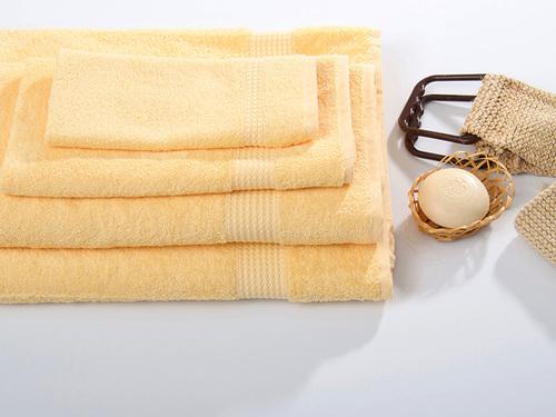 Махровое полотенце TOUCHSOFT, светло-жёлтый
