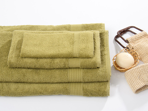Махровое полотенце TOUCHSOFT, оливковый