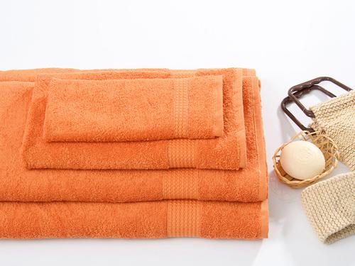 Махровое полотенце TOUCHSOFT, терракотовый