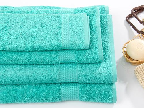 Махровое полотенце TOUCHSOFT, бирюзовый