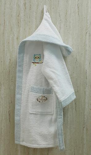 Детский банный халат Volenka Совёнок Blue 10-12 лет