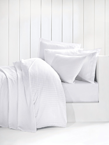 Белые наволочки Оксфорд (2 шт) STRIPE SATIN 50х70 см