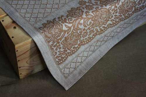 Жаккардовое полотенце для кухни коричневого цвета 50х70 см