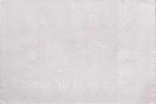 Белое льняное полотенце Барбара 50х70 см