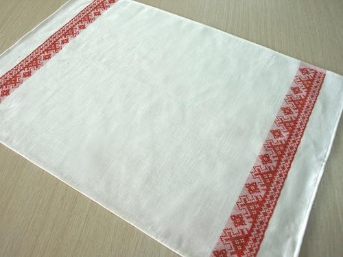 Белорусское полотенце с орнаментом Жалейка 50х70 см