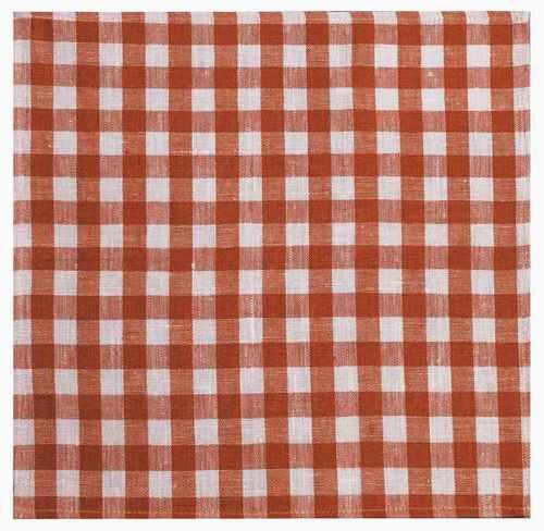 Столовая салфетка в красную клеточку 45х45 см