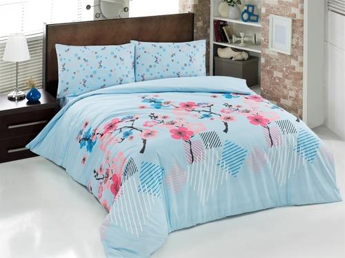 Постельное белье RANFORCE JAPAN GARDEN, LIGHT BLUE
