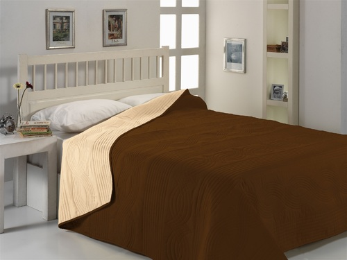 Покрывало MICRO SATIN BEDSPREAD, коричневый