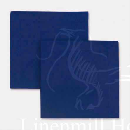 Столовая льняная салфетка синяя 40х40 см