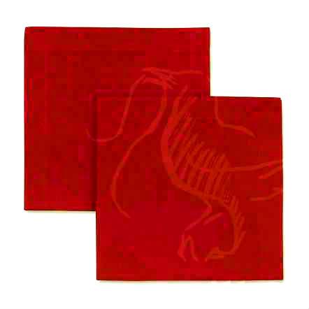 Салфетка столовая красная 45х45 см