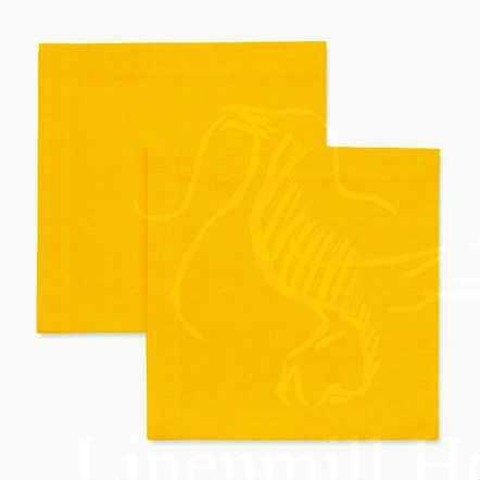 Столовая льняная салфетка желтая 40х40 см