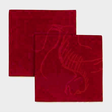 Столовая льняная салфетка темно-красного цвета 40х40 см