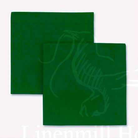 Салфетка столовая темно-зеленая 40х40 см