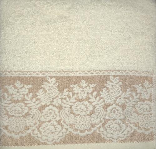 Махровое полотенце 50х90 GARDEN CREAM-MOCHA, кремовый/мокко