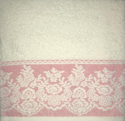 Махровое полотенце 50х90 GARDEN CREAM-FUCHSIA, кремовый/фуксия