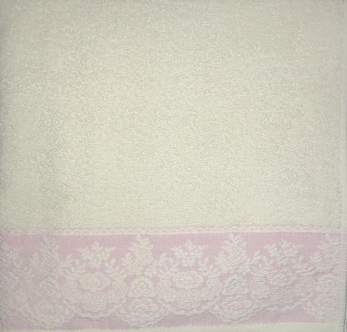 Махровое полотенце 70х140 GARDEN CREAM-PINK, кремовый/розовый