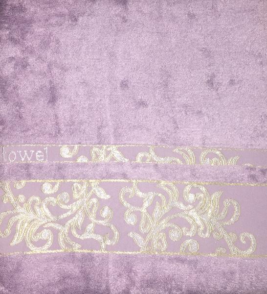 Набор полотенец 30х50 BAMBOO JACQUARD lilac, лиловый