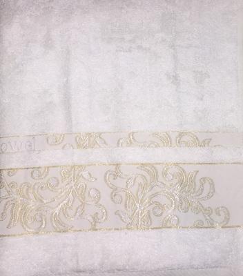 Набор полотенец 30х50 BAMBOO JACQUARD cream, кремовый