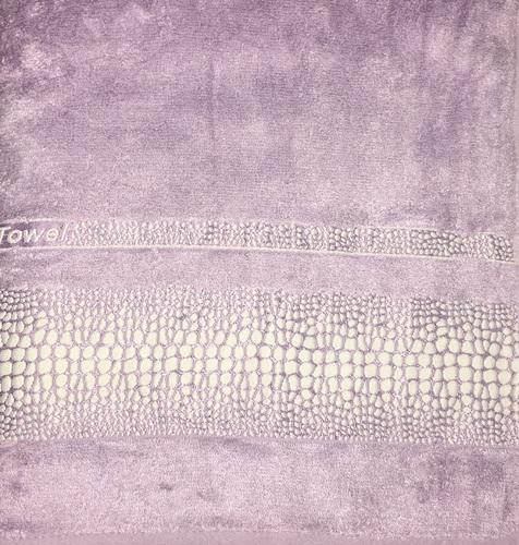 Махровое полотенце 50х90 BAMBOO CROCODILE lilac, лиловый
