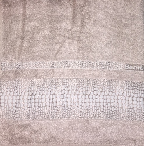 Махровое полотенце 50х90 BAMBOO CROCODILE mocha, мокко