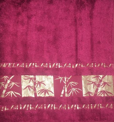 Махровое полотенце 50х90 BAMBOO GOLD burgundy, бургунди