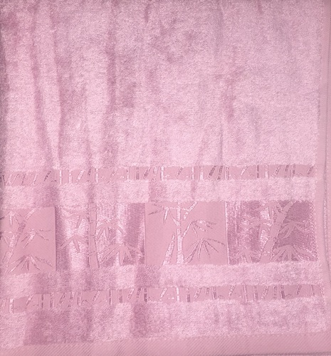 Махровое полотенце 50х90 BAMBOO rose, роза