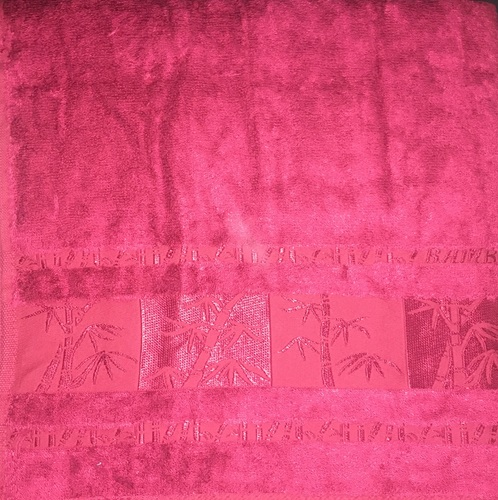 Махровое полотенце 50х90 BAMBOO burgundy, бургунди