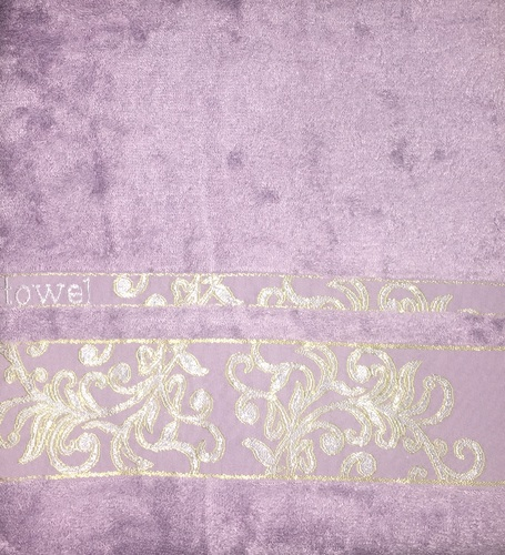 Махровое полотенце 50х90 BAMBOO JACQUARD lilac, лиловый