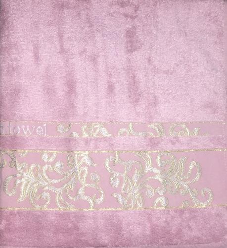 Махровое полотенце 50х90 BAMBOO JACQUARD rose, роза