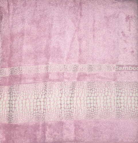 Махровое полотенце 70х140 BAMBOO CROCODILE rose, роза