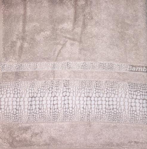 Махровое полотенце 70х140 BAMBOO CROCODILE mocha, мокко