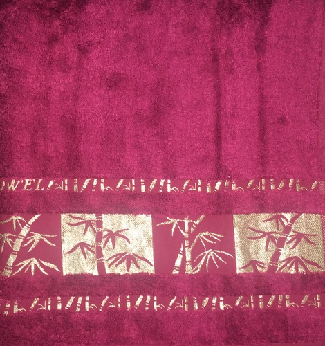Махровое полотенце 70х140 BAMBOO GOLD burgundy, бургунди