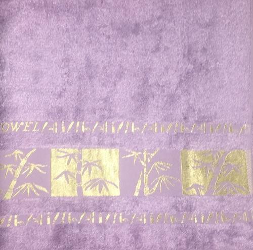 Махровое полотенце 70х140 BAMBOO GOLD lilac, лиловый