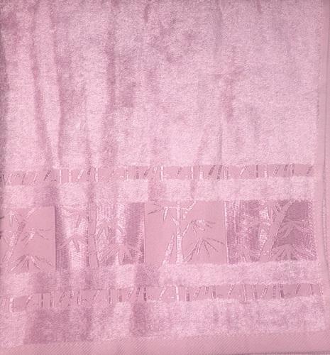Махровое полотенце 70х140 BAMBOO rose, роза