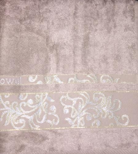 Махровое полотенце 70х140 BAMBOO JACQUARD mocha, мокко