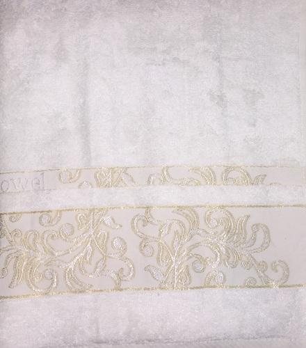 Махровое полотенце 70х140 BAMBOO JACQUARD cream, кремовый