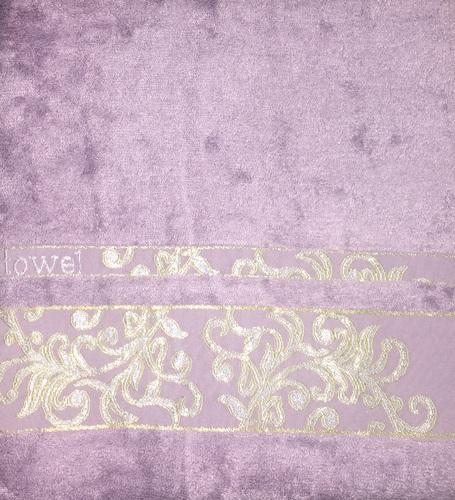 Махровое полотенце 70х140 BAMBOO JACQUARD lilac, лиловый