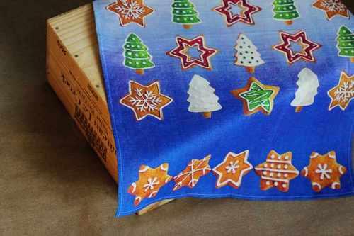 Новогоднее полотенце Пряники с корицей 50х70 см