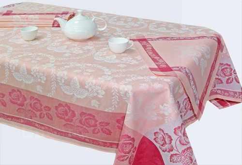 Жаккардовая скатерть с салфетками Елизавета 50х200 см