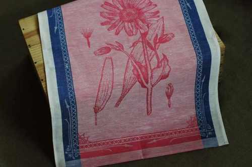 Розовое кухонное полотенце Арника 50х70 см
