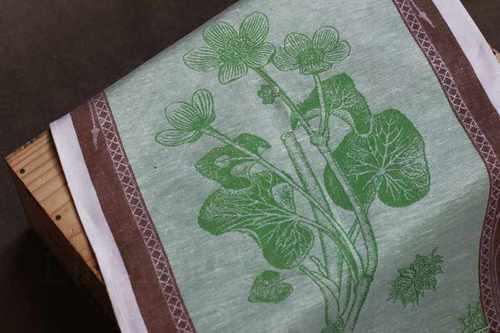 Кухонное полотенце Калужница зелёного цвета 50х70 см