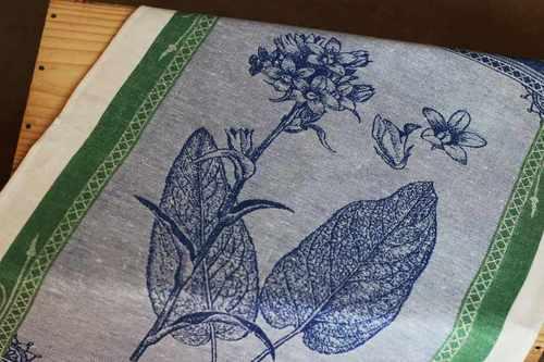 Кухонное полотенце с цветами Bleu cloche 50х70 см
