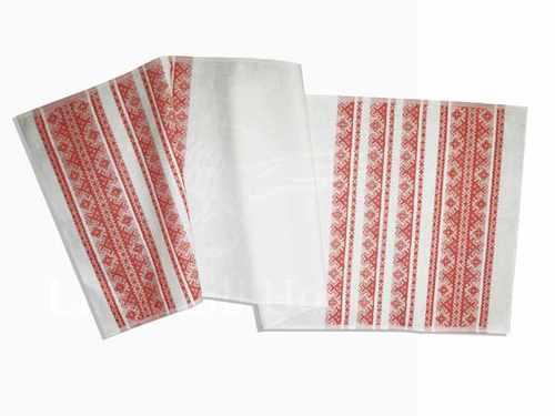 Льняной рушник Сябрына 50х150 см