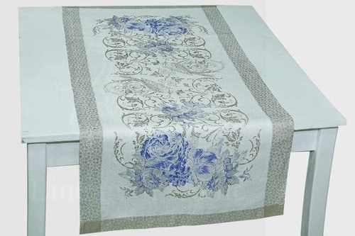 Льняная скатерть-дорожка Шебби Шик 50х95 см