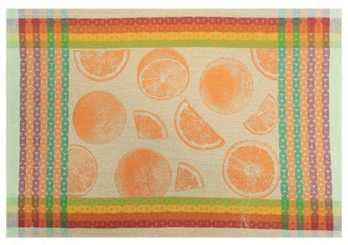 Оранжевое кухонное полотенце Апельсин 48х70 см